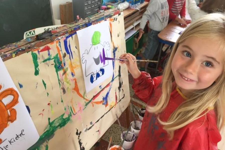 Meneertje kletskous schilderen